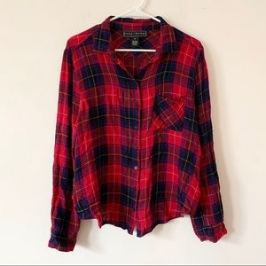 Polly & Esther Red Grunge Shirt